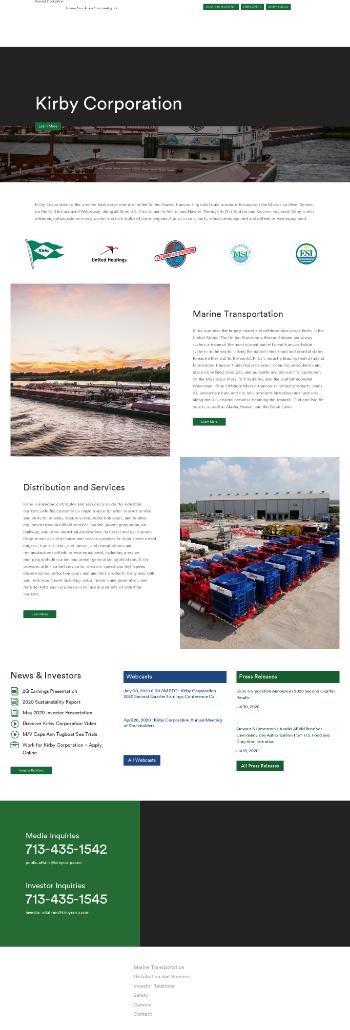Kirby Corporation Website Screenshot