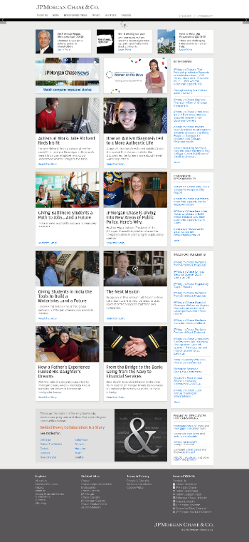 JPMorgan Chase & Co. Website Screenshot