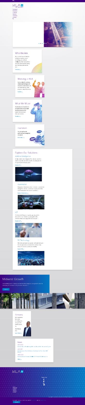 KLA Corporation Website Screenshot