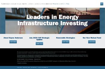 Kayne Anderson Midstream/Energy Fund, Inc. Website Screenshot