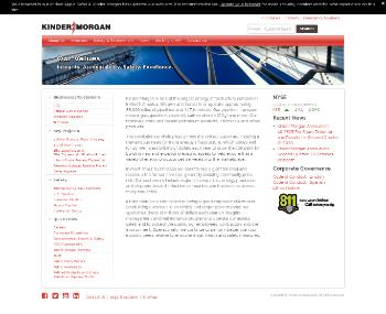 Kinder Morgan, Inc. Website Screenshot