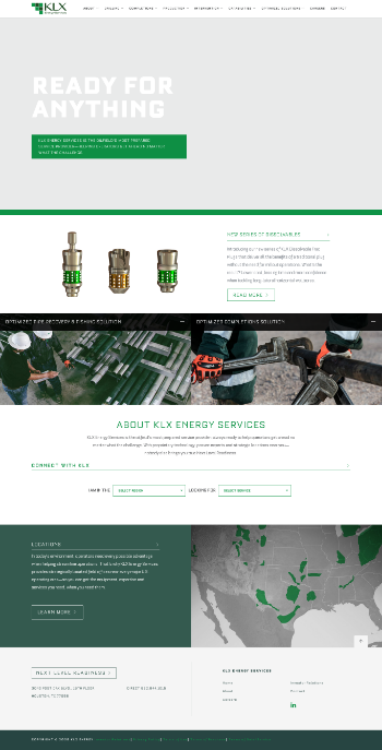 KLX Energy Services Holdings, Inc. Website Screenshot