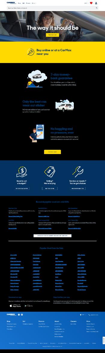 CarMax, Inc. Website Screenshot