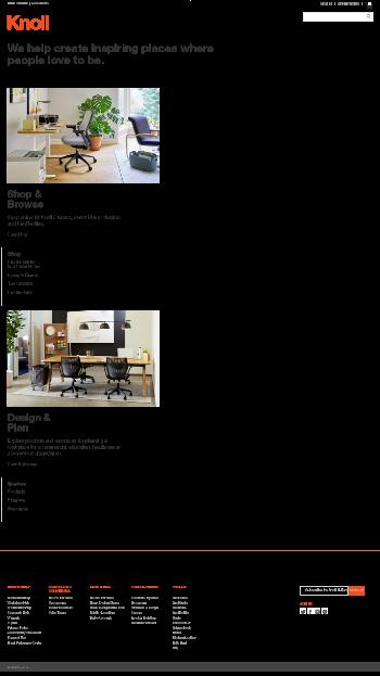 Knoll, Inc. Website Screenshot