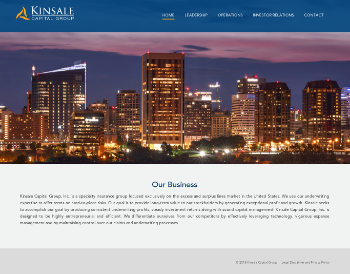 Kinsale Capital Group, Inc. Website Screenshot
