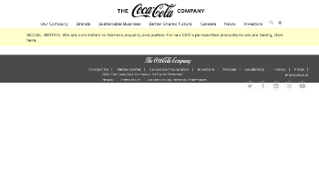 The Coca-Cola Company Website Screenshot