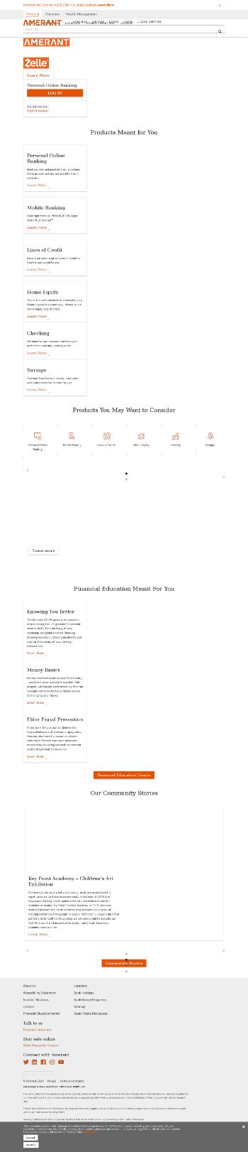 Amerant Bancorp Inc. Website Screenshot