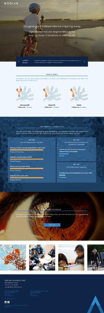 Kodiak Sciences Inc. Website Screenshot
