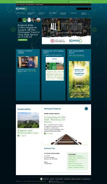 Koppers Holdings Inc. Website Screenshot