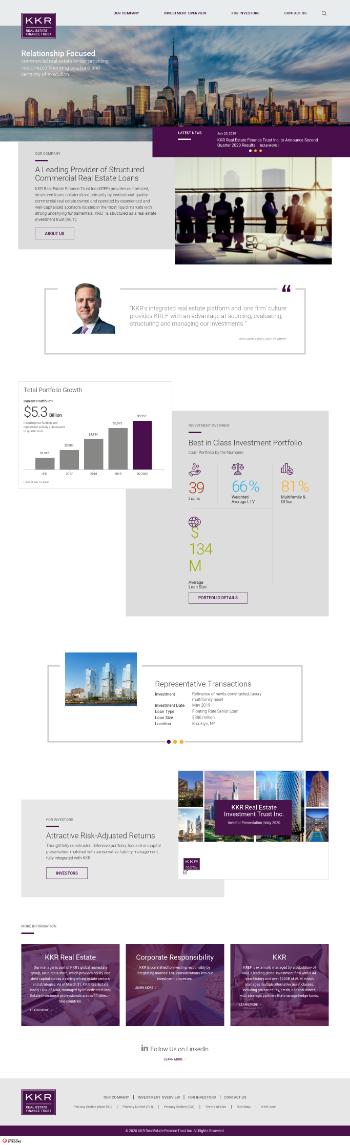 KKR Real Estate Finance Trust Inc. Website Screenshot