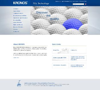 Kronos Worldwide, Inc. Website Screenshot