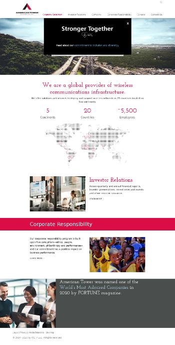American Tower Corporation (REIT) Website Screenshot