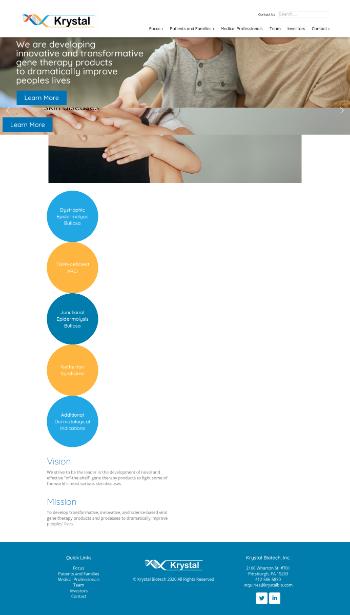 Krystal Biotech, Inc. Website Screenshot