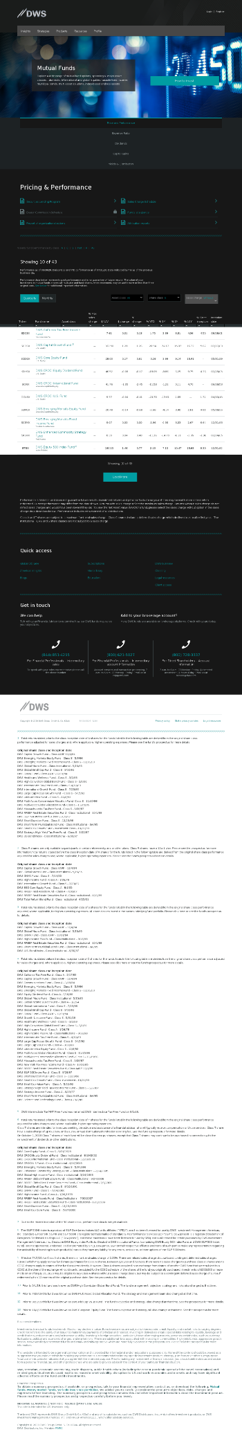 DWS Municipal Income Trust Website Screenshot