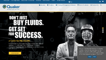 Quaker Chemical Corporation Website Screenshot