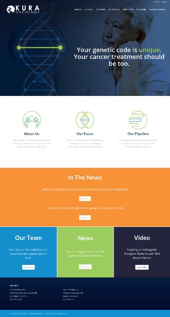 Kura Oncology, Inc. Website Screenshot