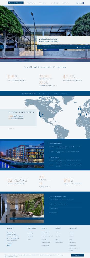Kennedy-Wilson Holdings, Inc. Website Screenshot