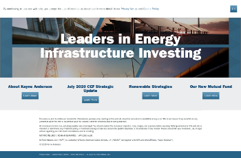 Kayne Anderson MLP/Midstream Investment Company Website Screenshot