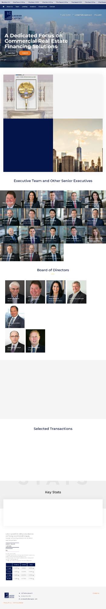 Ladder Capital Corp Website Screenshot