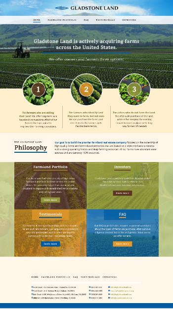 Gladstone Land Corporation Website Screenshot