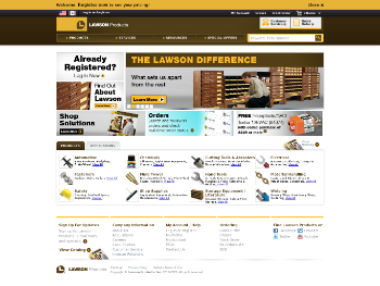 Lawson Products, Inc. Website Screenshot