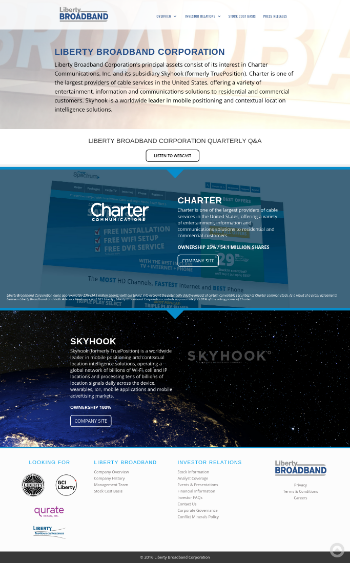 Liberty Broadband Corporation Website Screenshot