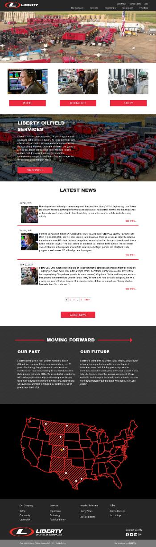 Liberty Oilfield Services Inc. Website Screenshot