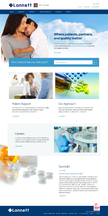 Lannett Company, Inc. Website Screenshot