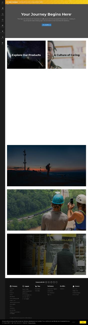 LCI Industries Website Screenshot
