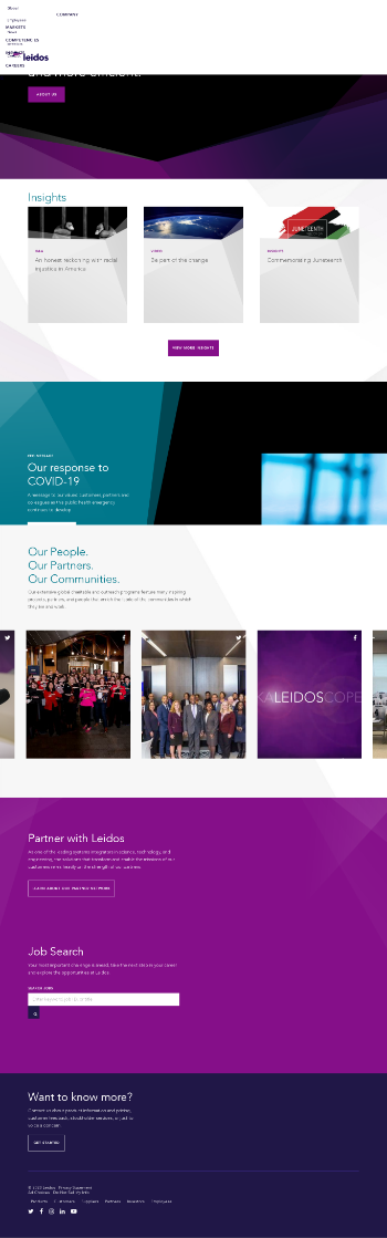 Leidos Holdings, Inc. Website Screenshot