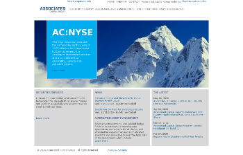Associated Capital Group, Inc. Website Screenshot