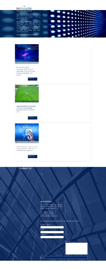 SemiLEDs Corporation Website Screenshot