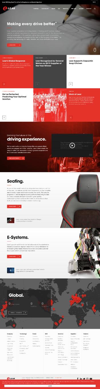 Lear Corporation Website Screenshot