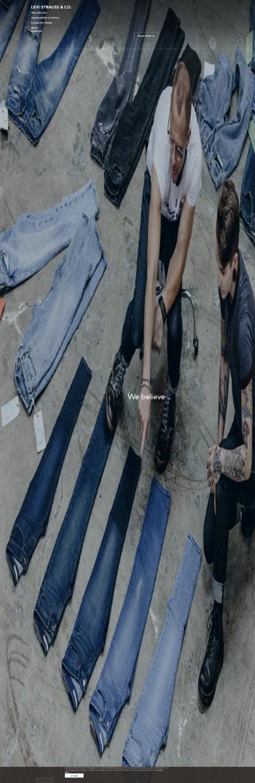 Levi Strauss & Co. Website Screenshot
