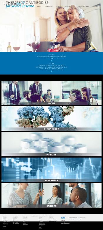 AnaptysBio, Inc. Website Screenshot