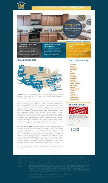 LGI Homes, Inc. Website Screenshot