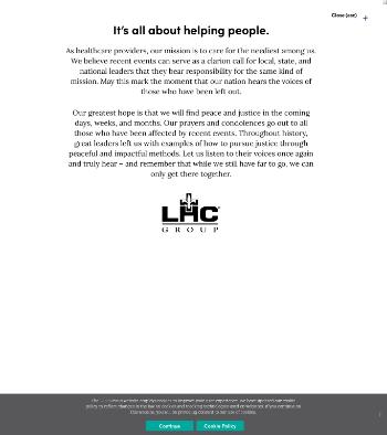 LHC Group, Inc. Website Screenshot