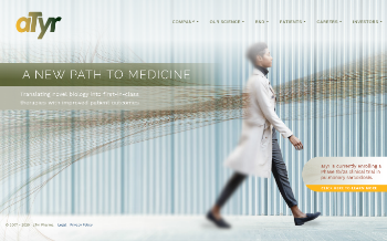 aTyr Pharma, Inc. Website Screenshot