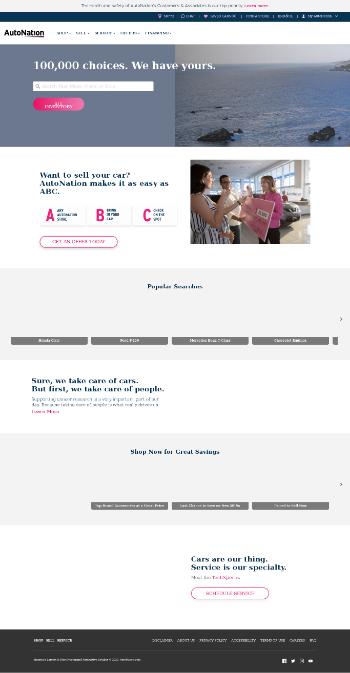 AutoNation, Inc. Website Screenshot