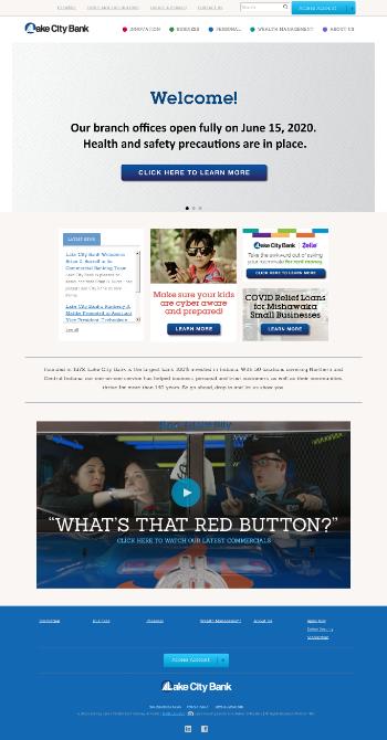 Lakeland Financial Corporation Website Screenshot
