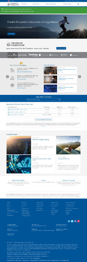Legg Mason, Inc. Website Screenshot