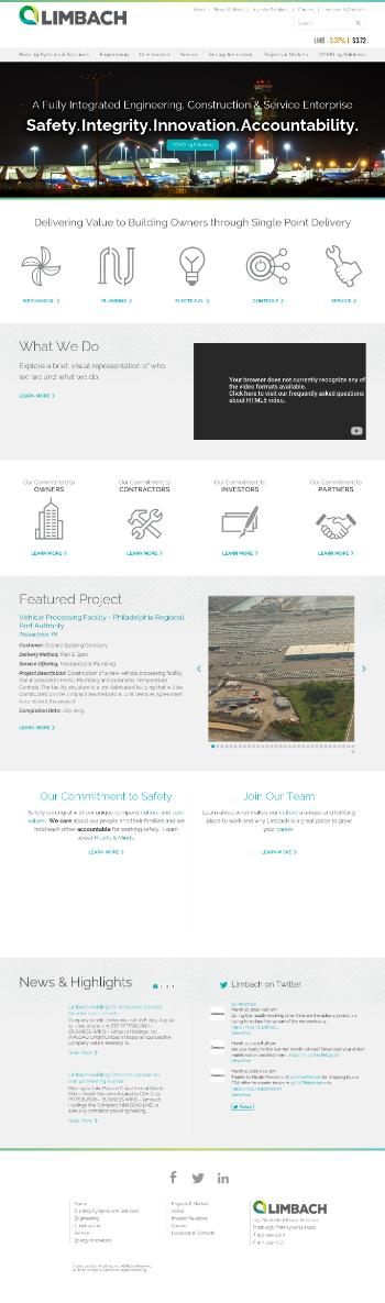 Limbach Holdings, Inc. Website Screenshot