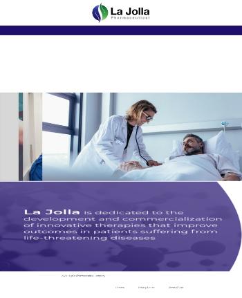 La Jolla Pharmaceutical Company Website Screenshot