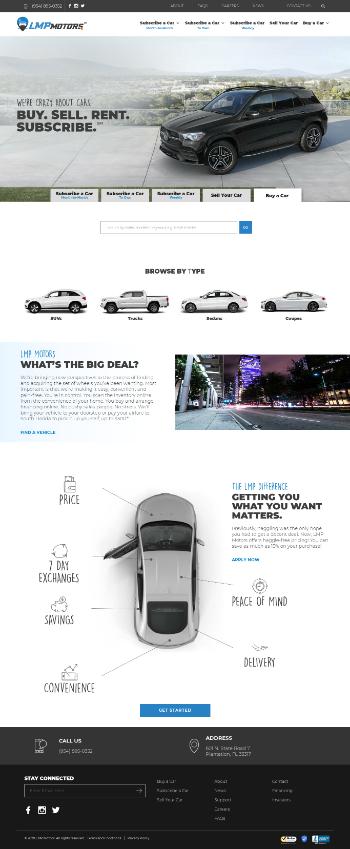 LMP Automotive Holdings, Inc. Website Screenshot