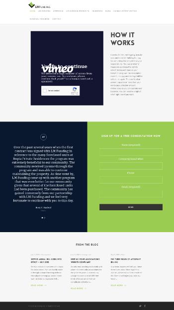 LM Funding America, Inc. Website Screenshot