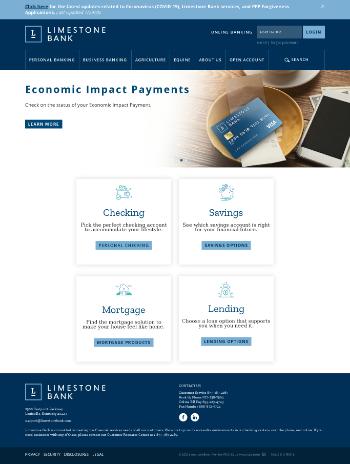 Limestone Bancorp, Inc. Website Screenshot