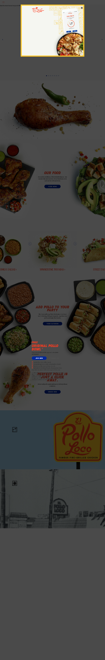 El Pollo Loco Holdings, Inc. Website Screenshot