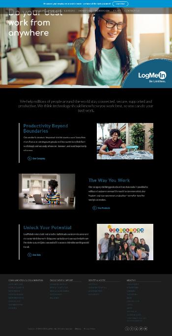 LogMeIn, Inc. Website Screenshot