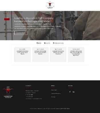Lonestar Resources US Inc. Website Screenshot
