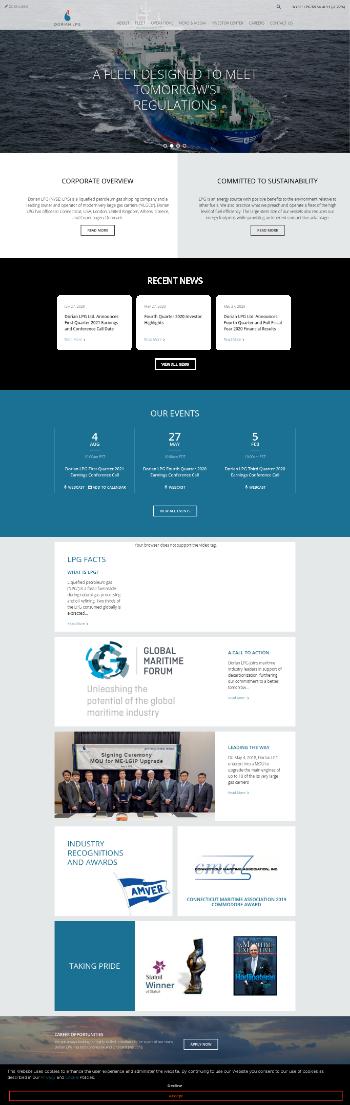 Dorian LPG Ltd. Website Screenshot